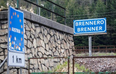El paso de Brennero, que separa Italia y Austria en los Alpes.