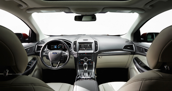 Interior del Ford Edge