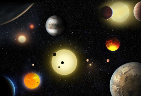 Recreación de los planetas descubiertos por el supertelescopio...