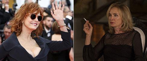 Susan Sarandon (izda.) y Jessica Lange.