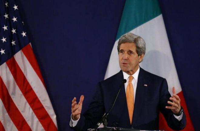 John Kerry, durante su comparecencia de este lunes en Viena.