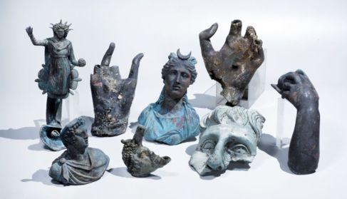 Los objetos de bronce rescatados