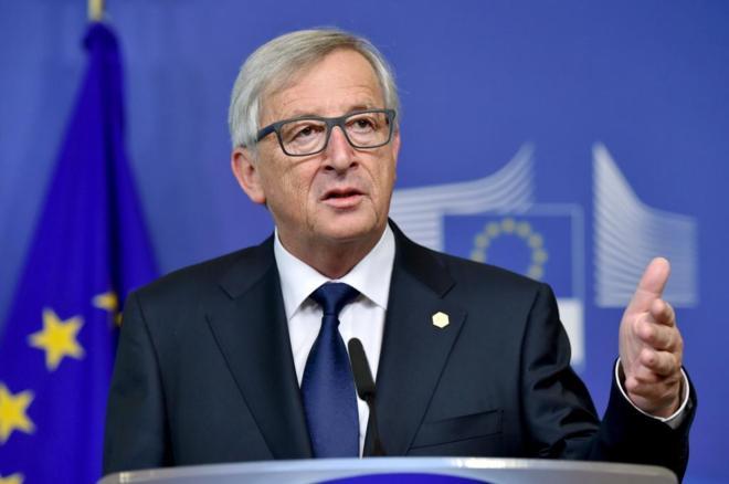 El presidente de la Comisión Europea, Jean-Claude Juncker, la entidad...