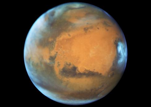 Marte, captado por el telescopio Hubble.