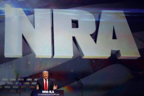 Donald Trump en la convención anual de la Asociación Nacional del...