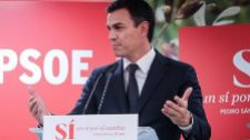 Pedro Sánchez, durante un acto del PSOE en Valencia el jueves.