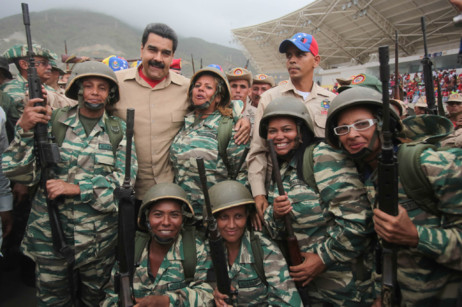 Nicolás Maduro participa en un acto en el marco de los ejercicios...