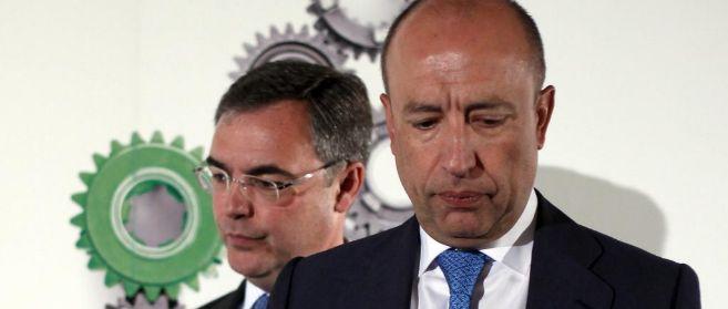 José Sevilla, director general de Bankia, tras Francisco Celma, socio...