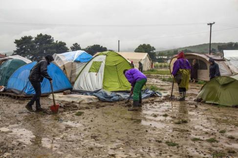 El campamento de refugiados de Idomeni, el pasado fin de semana.