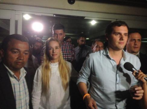 Albert Rivera, a su llegada a Venezuela.