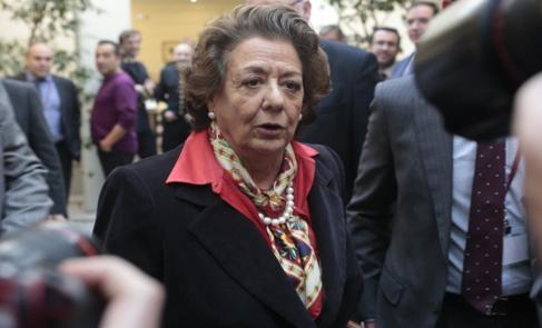 La senadora y ex alcaldesa de Valencia Rita Barberá en un acto en el...