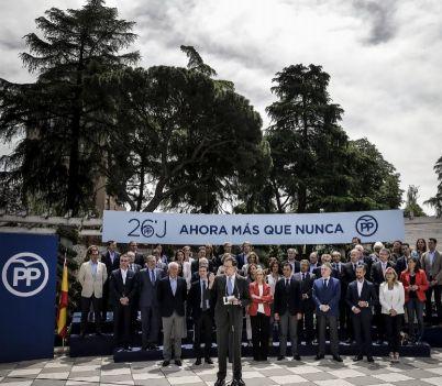 Mariano Rajoy, en la presentación de los cabezas de lista del PP al...