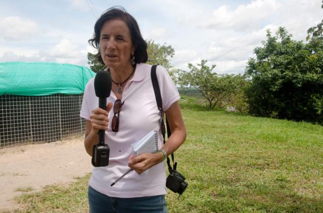 La reportera Salud Hernández-Mora, en una foto de archivo durante una...