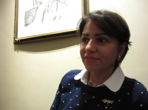 La activista contra la tortura en Bahrein Nada Dhaif, en Oslo.