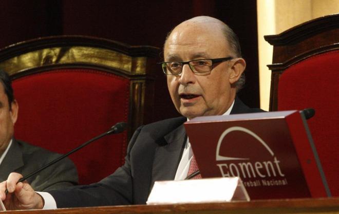 Cristóbal Montoro, en un acto celebrado recientemente en Barcelona.