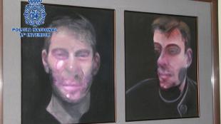 Dos de los cuadros sustraídos en Madrid pertenecientes a la obra de...