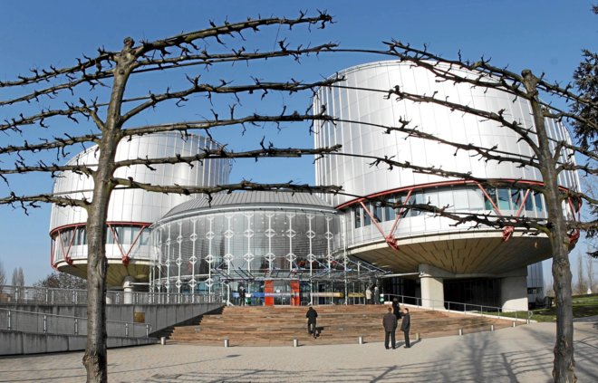Vista general de la sede del Tribunal Europeo de Derechos Humanos...