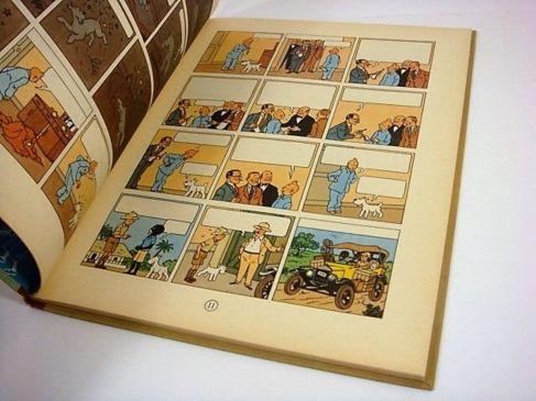 Ejemplar del cómic de Tintín.