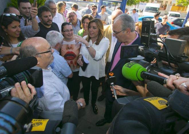 La presidenta andaluza, Susana Díaz, el miércoles, en un acto en...