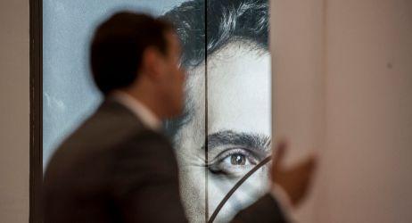 Albert Rivera en una rueda de prensa en la sede de Ciudadanos en...