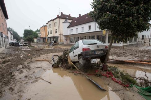 Simbach, una de las regiones del sur de Alemania más afectadas por...