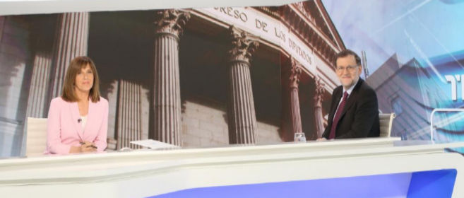 Mariano Rajoy durante su entrevista en TVE