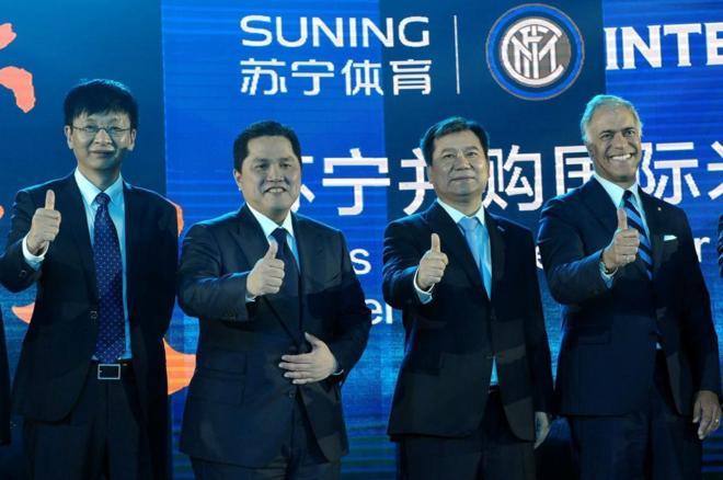 El grupo chino Suning ha adquirido el 70% del Inter de Milán por 270  millones. STRAFP-PHOTO 4b7d87e584490