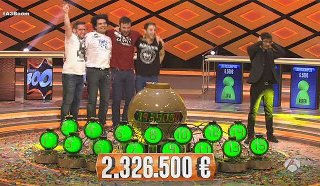 'Los Rockcampers', tras ganar el bote de ¡'Boom!.