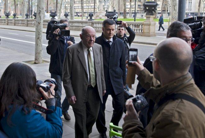 Fèlix Millet a su entrada a la Audiencia de Barcelona en una imagen de archivo