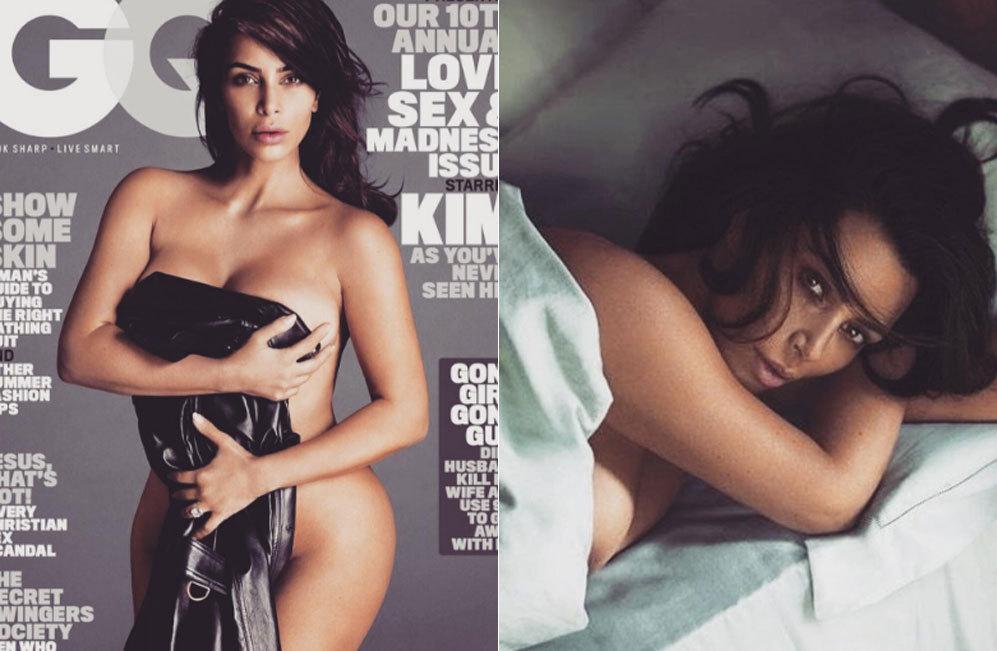 Así de provocativa ha posado Kim Kardashian para la revista GQ. La...
