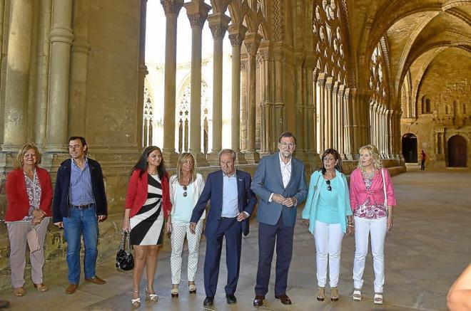 Mariano Rajoy ayer durante la visita a la Seu Vella de Lérida.