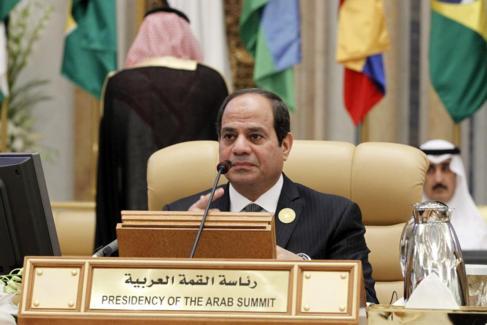 Al Sisi en la Cumbre de jefes de Estado de América del Sur y Países...