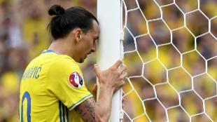 Zlatan Ibrahimovic, durante un partido de la Eurocopa.