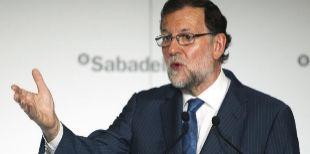 El presidente del Gobierno en funciones, Mariano Rajoy, en el desayuno...