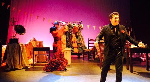 Juan Valderrama, durante su actuación.
