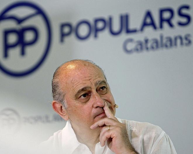 El ministro del Interior en funciones, Jorge Fernández Díaz, en un...