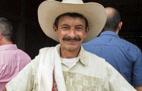 Un ciudadano de la región colombiana de La India.