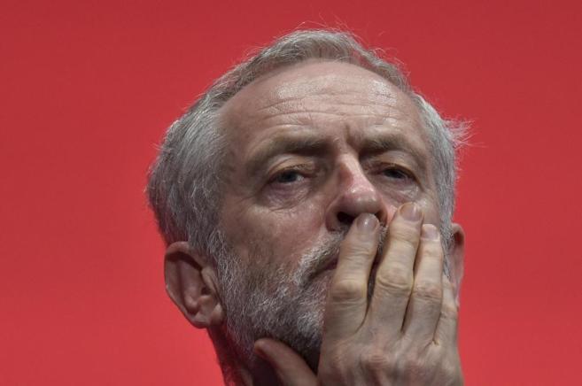 Jeremy Corbyn, durante una conferencia del Partido Laborista en...