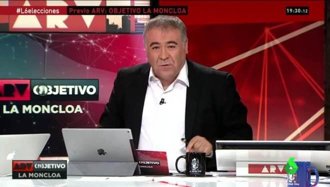 Antonio García Ferreras, en el especial electoral se La Sexta.