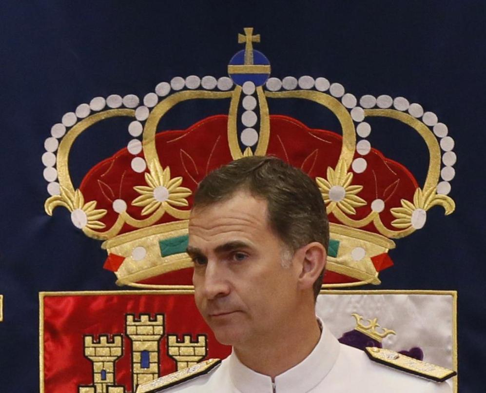 El Rey Felipe VI, durante la clausura del XVII Curso de Estado Mayor...