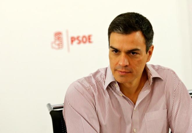 El líder del PSOE, Pedro Sánchez, el lunes, en la Ejecutiva de su...