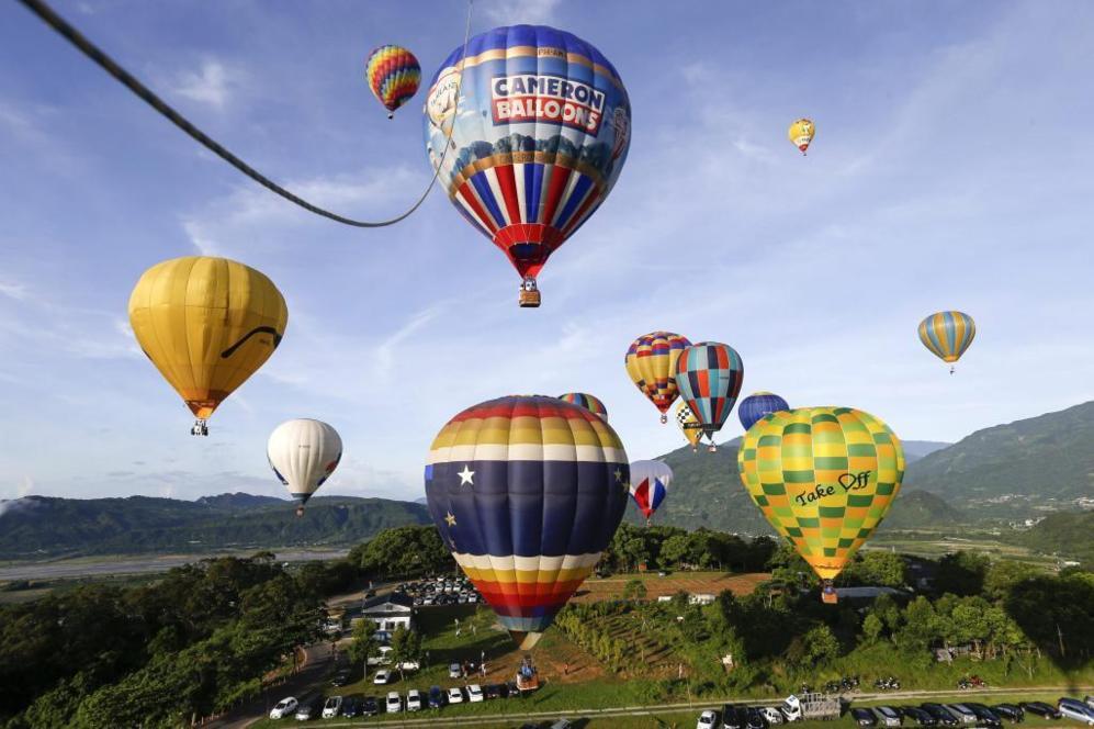 Instantánea de los globos durante el Festival Internacional de Globos...