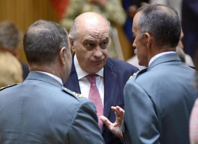 El ministro del Interior, Jorge Fernández Díaz, durante un acto en...