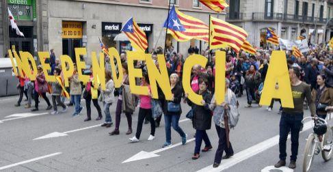 Manifestación por el centro de Barcelona para reivindicar la...