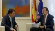 Aitor Esteban y Mariano Rajoy, durante su reunión en el Palacio de la...