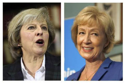 Las dos candidatas a suceder a David Cameron.