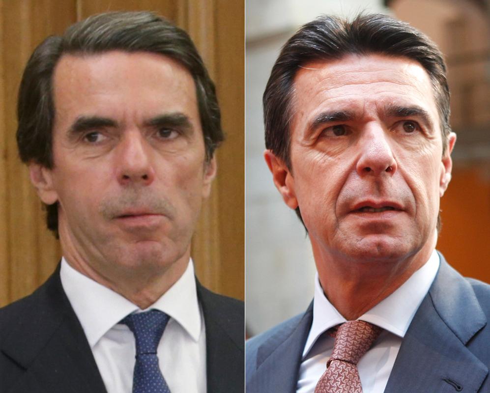 José María Aznar y José Manuel Soria. Cuando el exministro José...