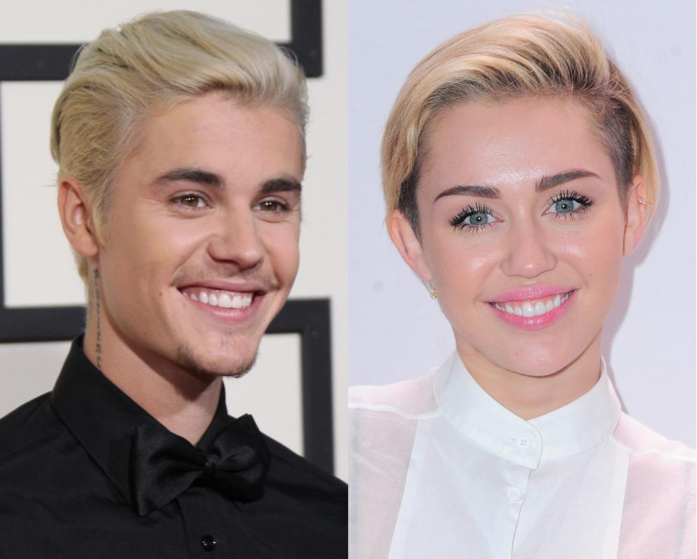 Justin Bieber y Miley Cyrus. Son jóvenes, polémicos, les gusta...