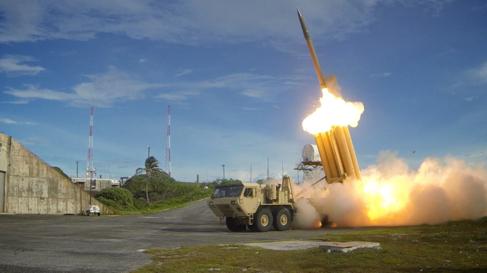 Un interceptor antimisiles del Ejército de Estados Unidos.