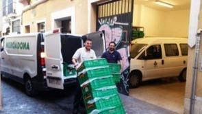 Trabajadores de Mercadona en San Juan de Dios.